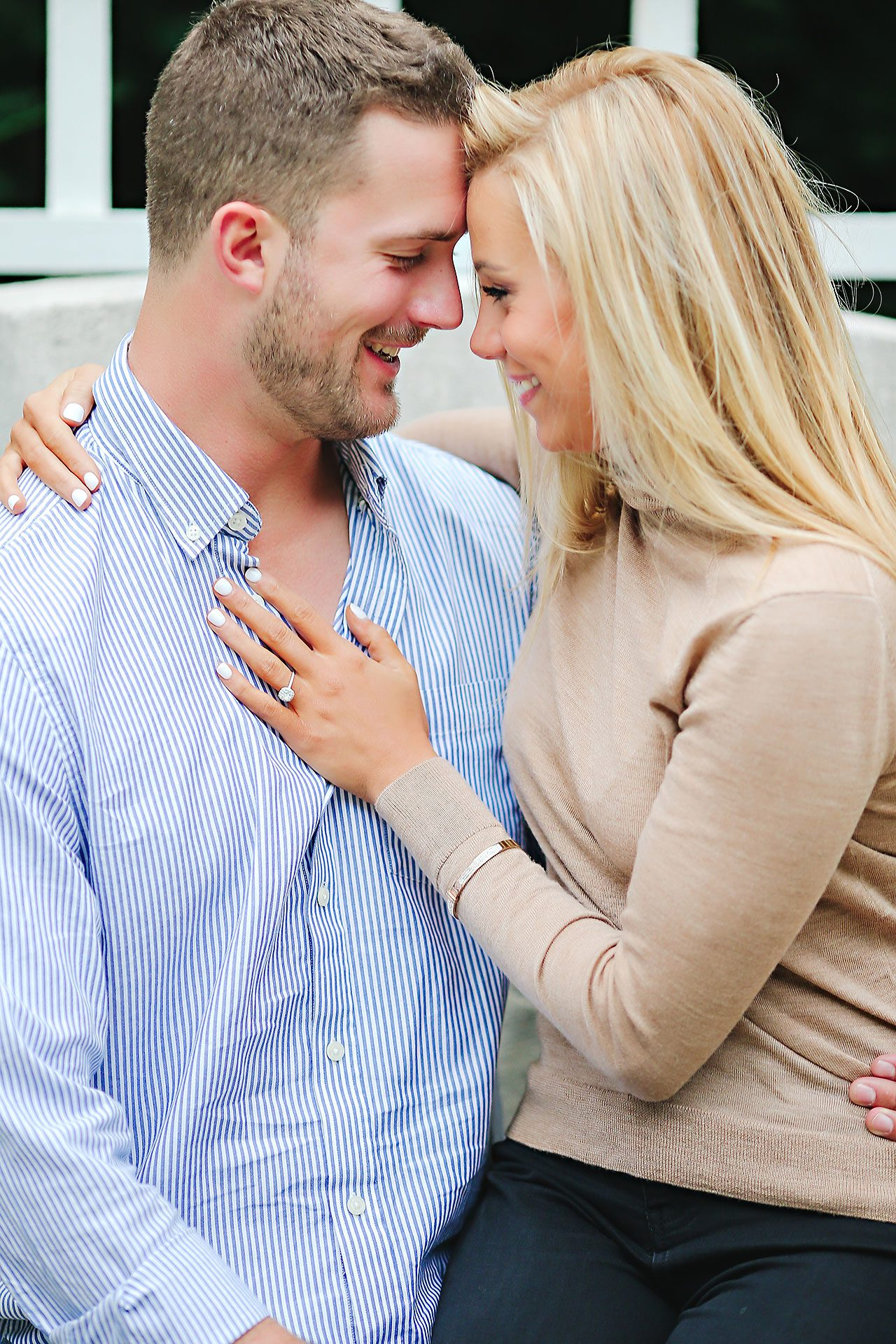 Jennie Mark Downtown Indianapolis Engagement Session 101