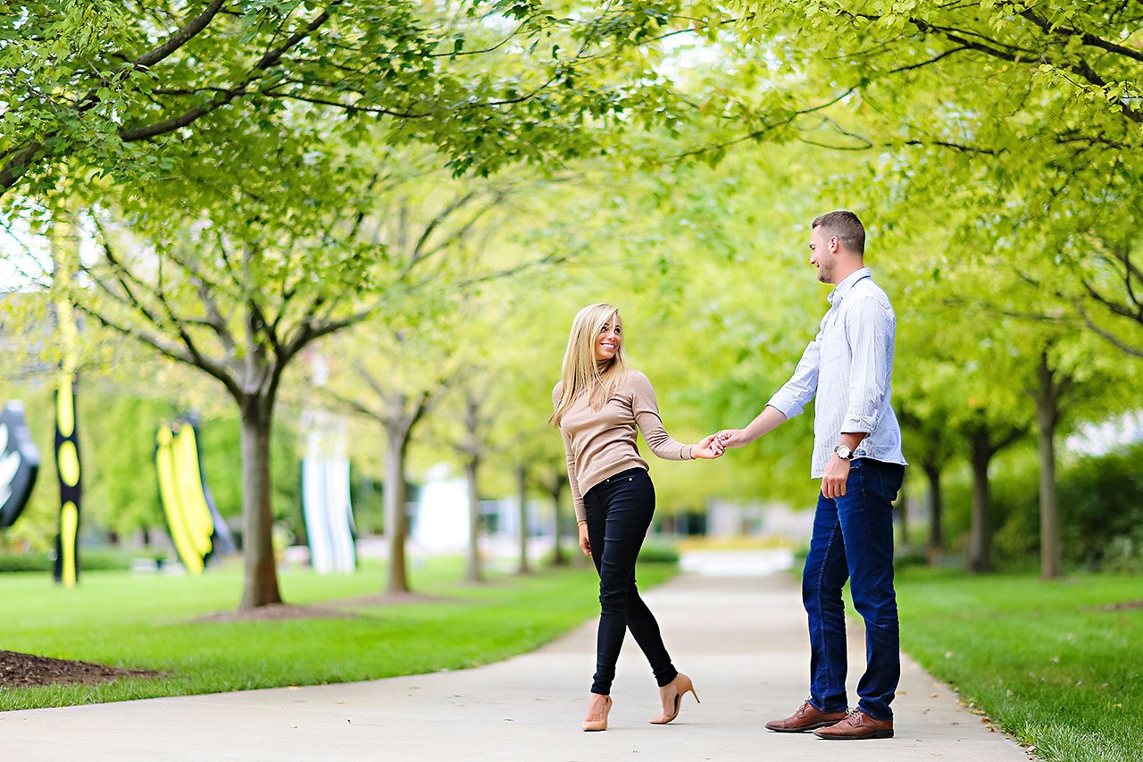 Jennie Mark Downtown Indianapolis Engagement Session 105