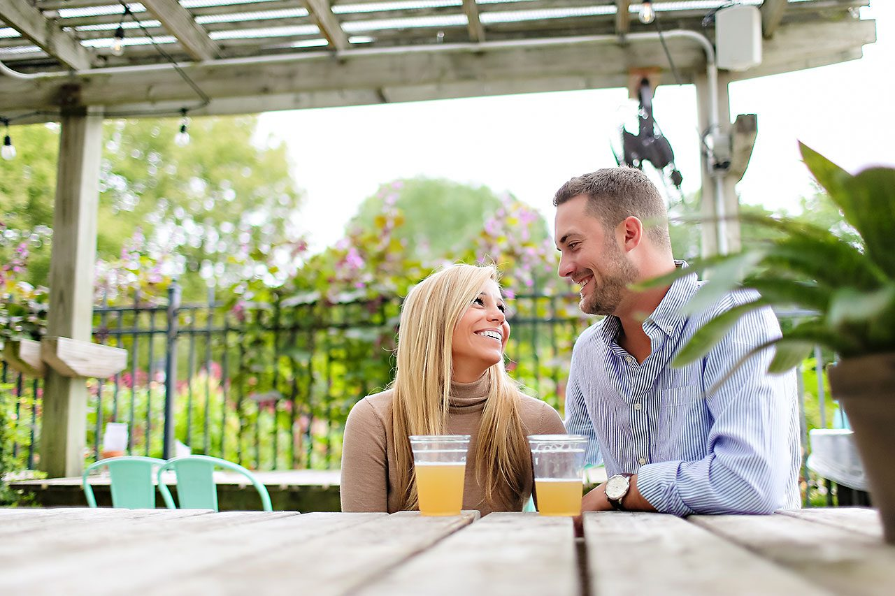 Jennie Mark Downtown Indianapolis Engagement Session 113