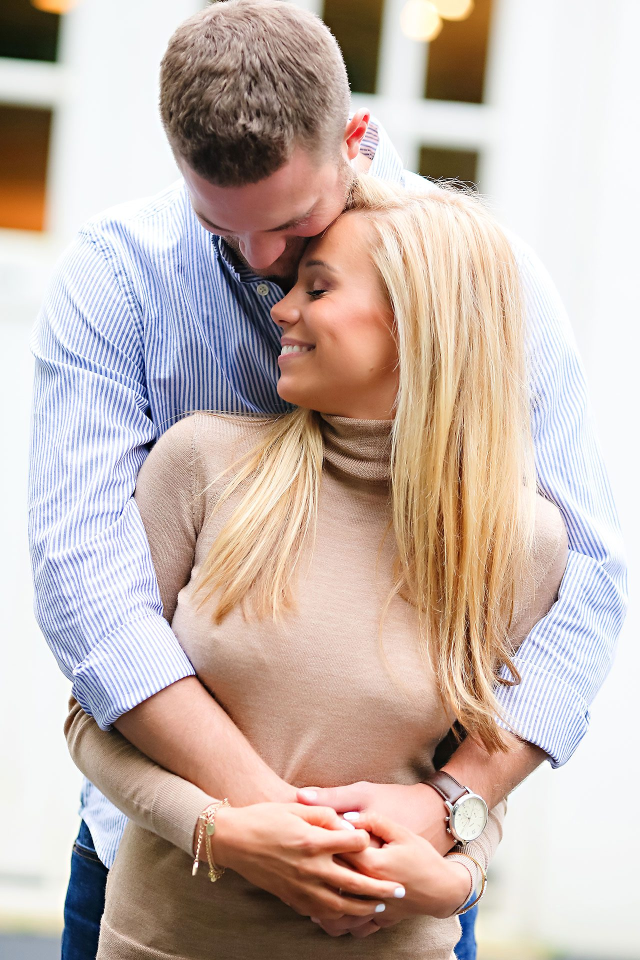 Jennie Mark Downtown Indianapolis Engagement Session 114