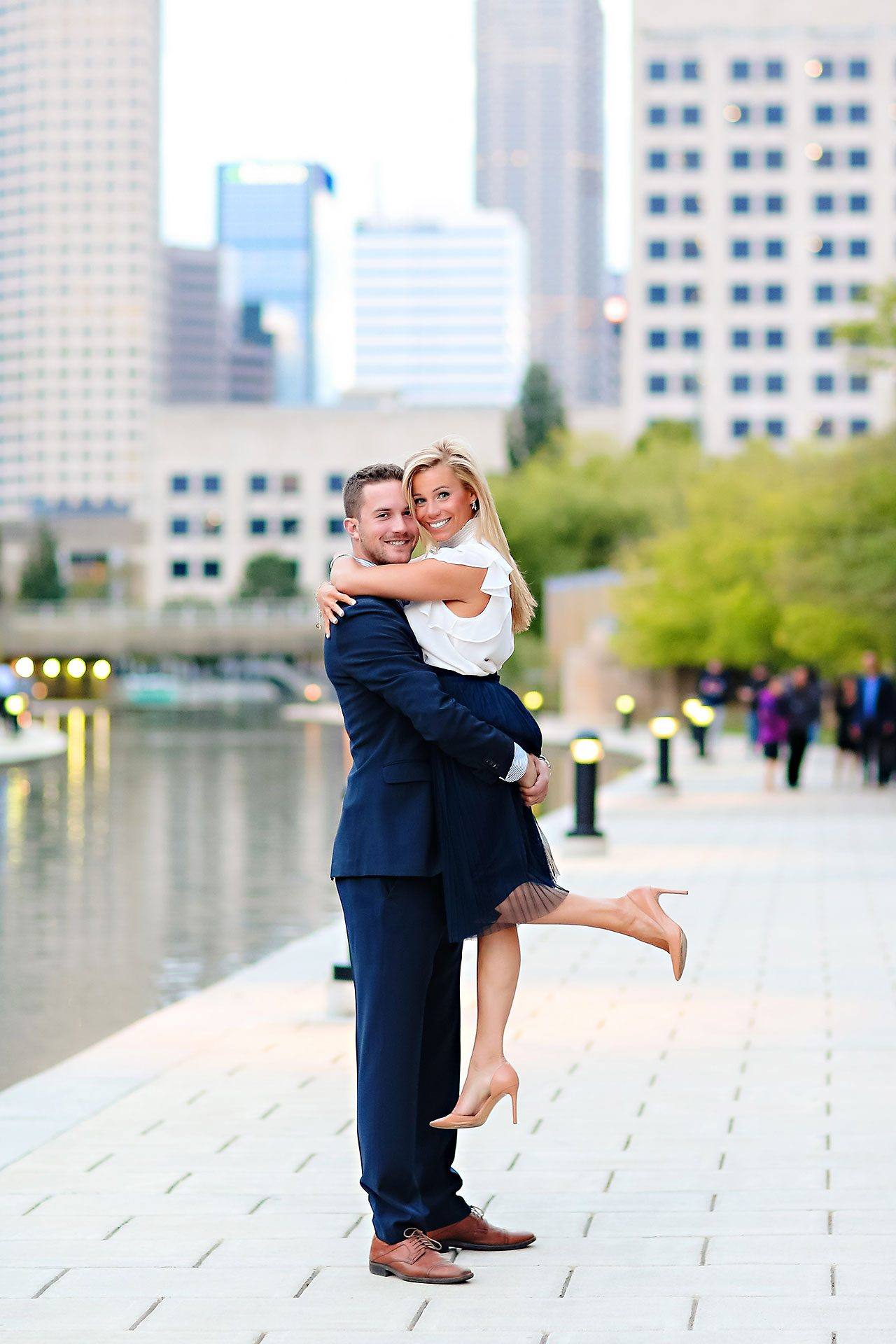 Jennie Mark Downtown Indianapolis Engagement Session 122