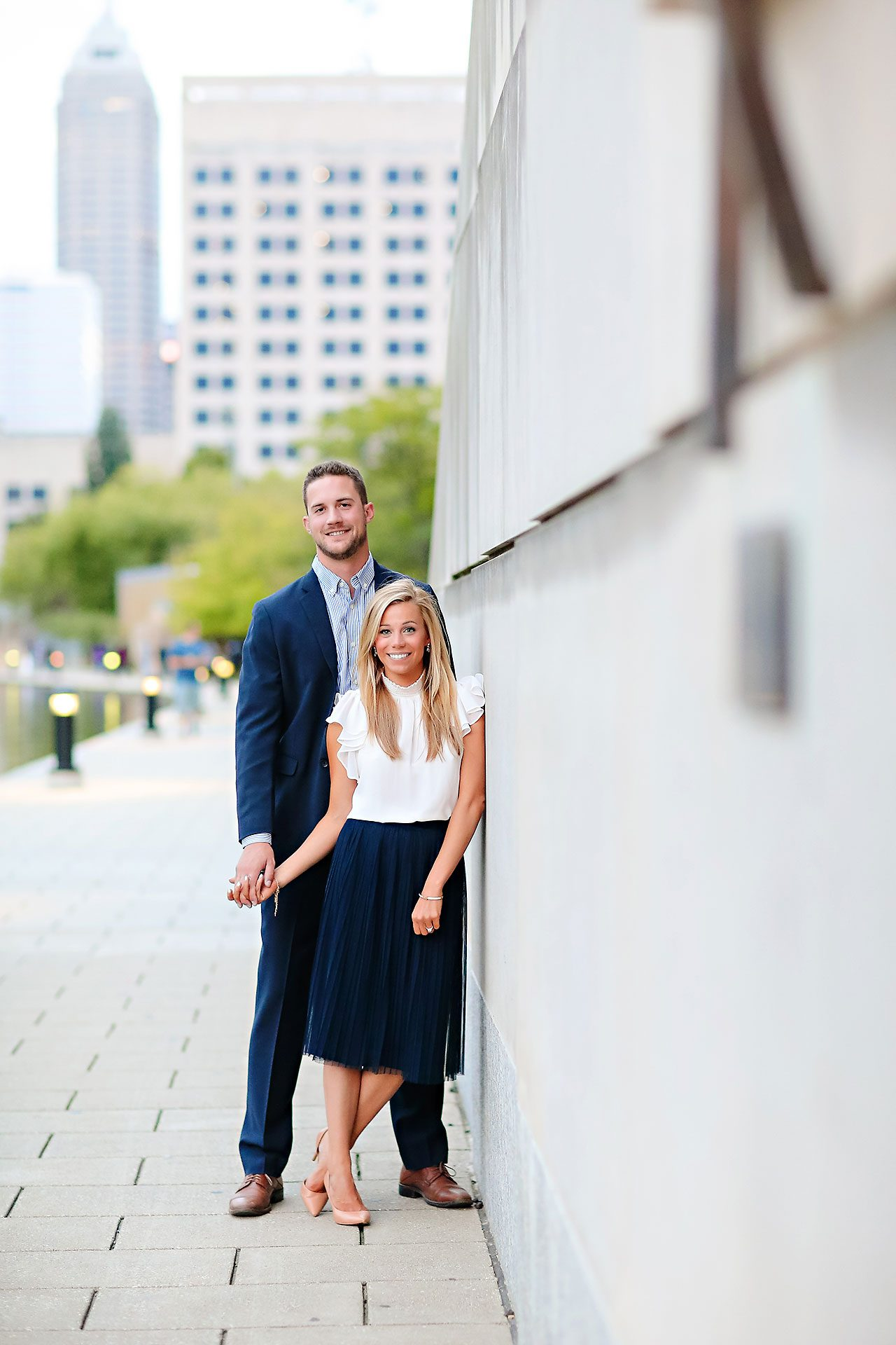 Jennie Mark Downtown Indianapolis Engagement Session 125