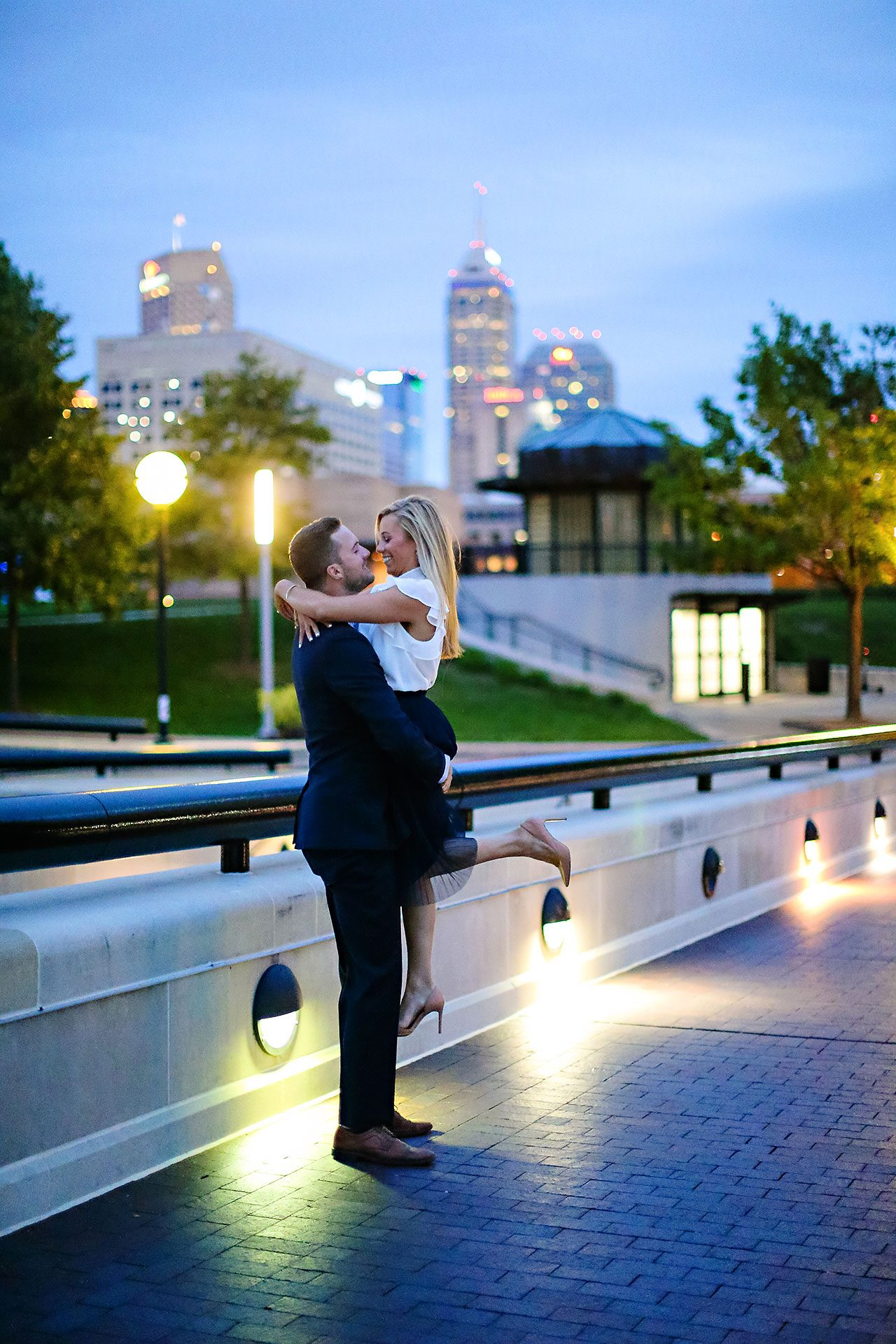Jennie Mark Downtown Indianapolis Engagement Session 126