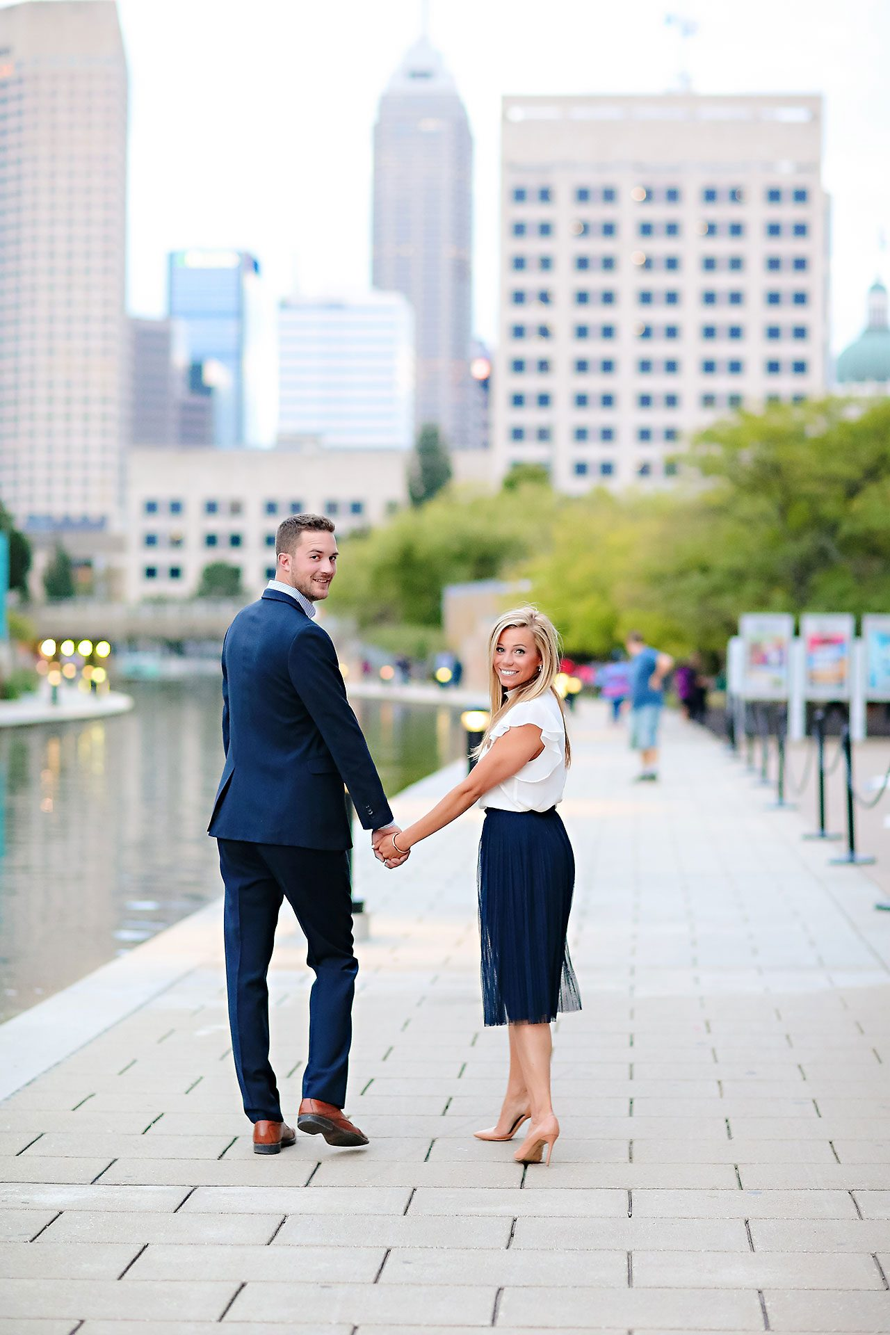 Jennie Mark Downtown Indianapolis Engagement Session 136