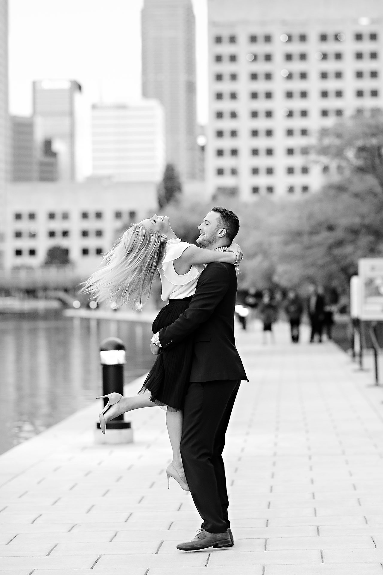 Jennie Mark Downtown Indianapolis Engagement Session 137