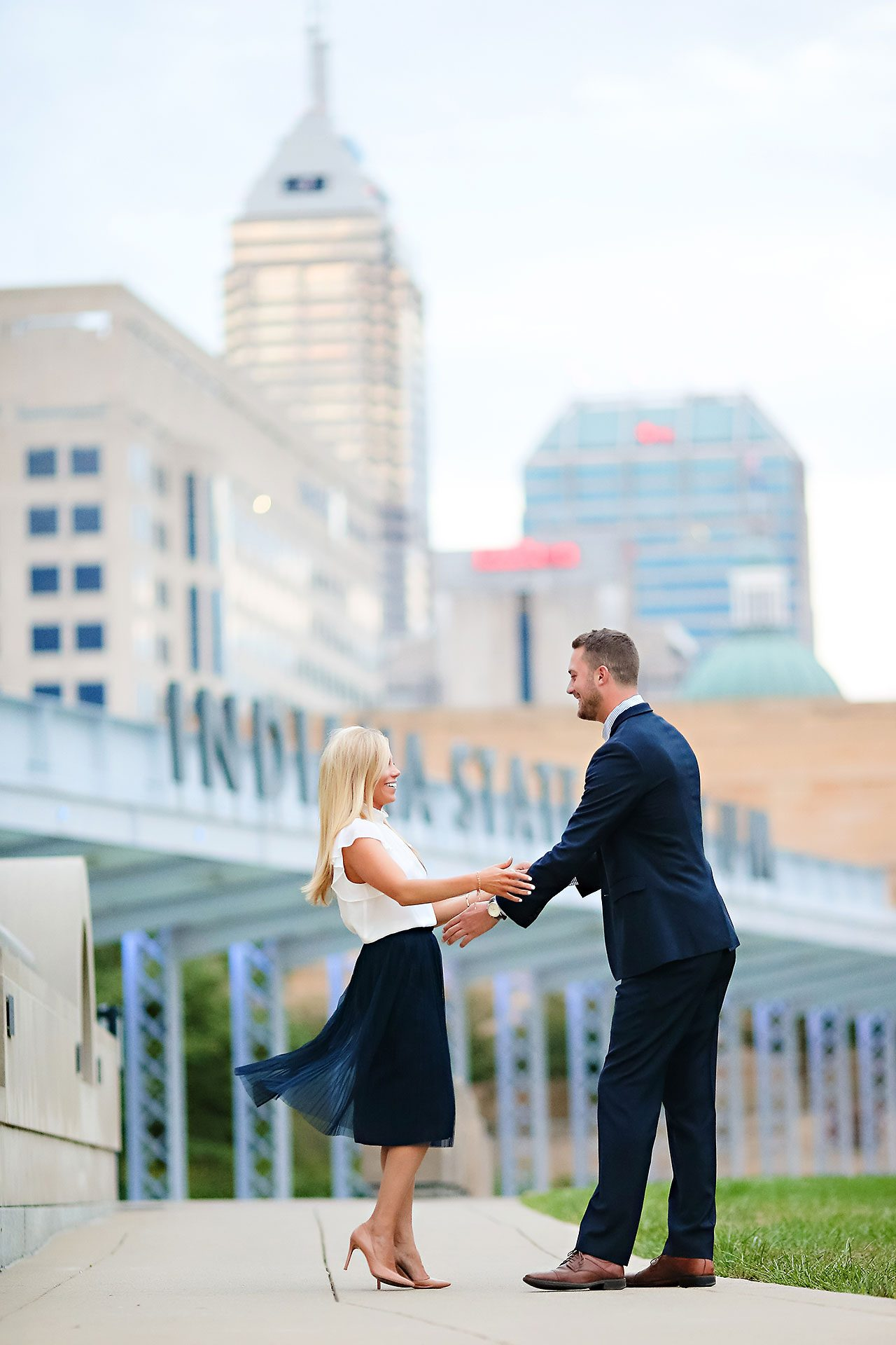 Jennie Mark Downtown Indianapolis Engagement Session 138