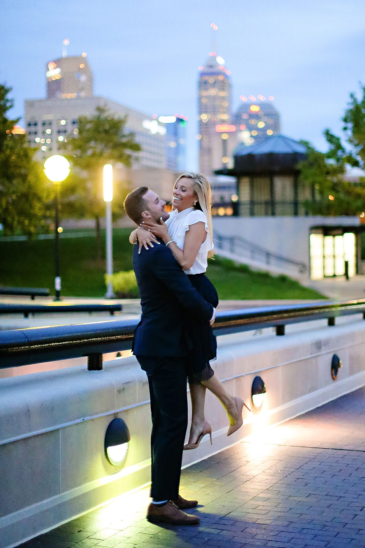 Jennie Mark Downtown Indianapolis Engagement Session 139