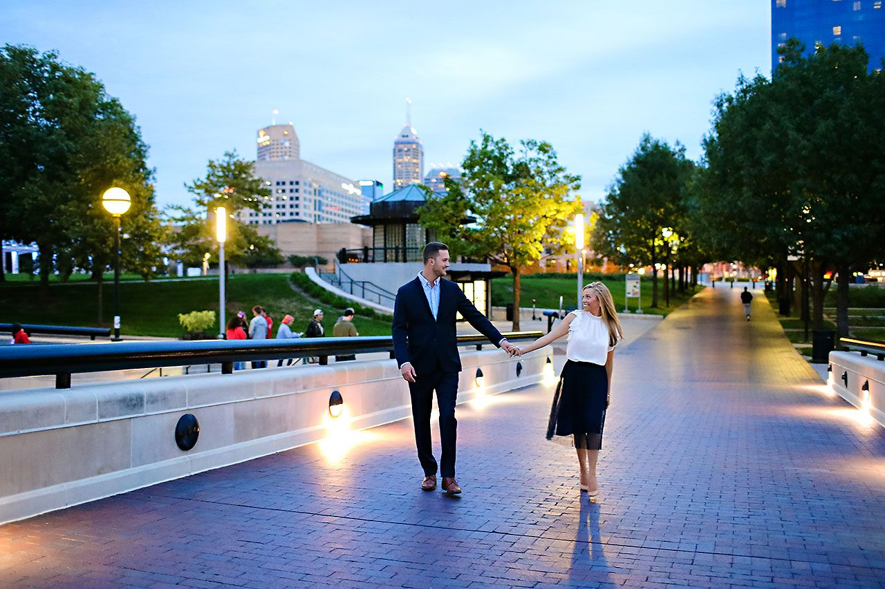 Jennie Mark Downtown Indianapolis Engagement Session 143