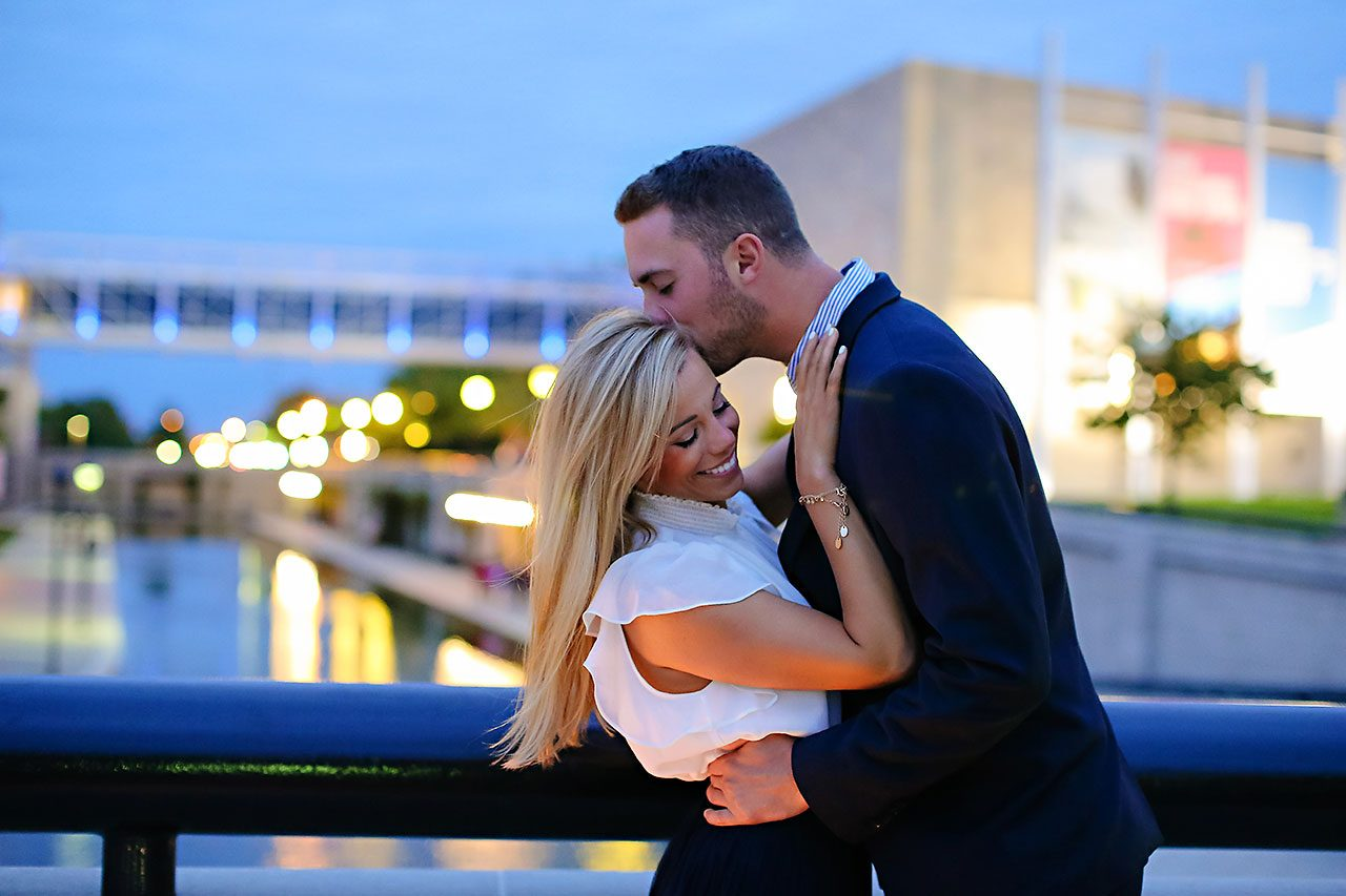Jennie Mark Downtown Indianapolis Engagement Session 144