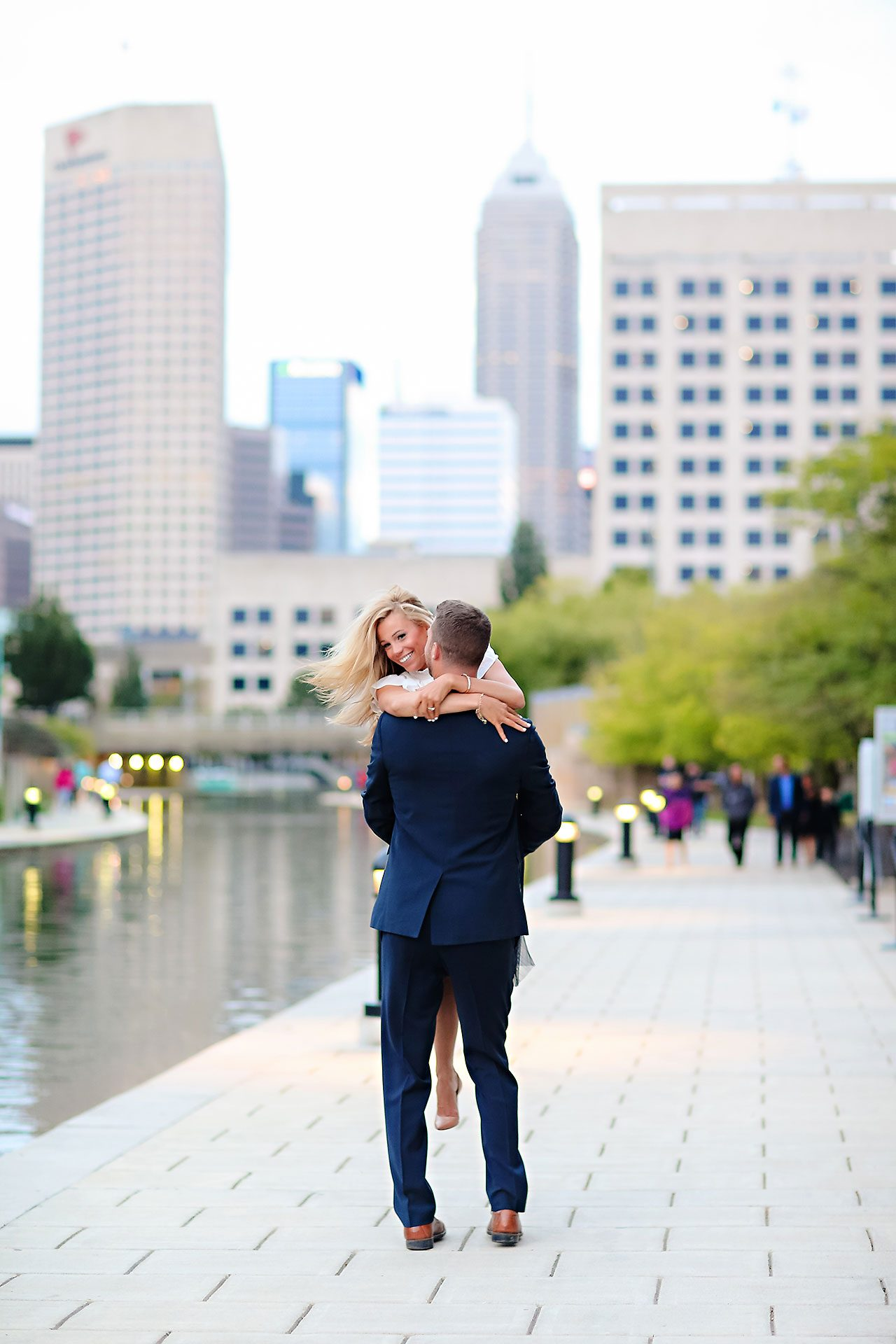 Jennie Mark Downtown Indianapolis Engagement Session 146
