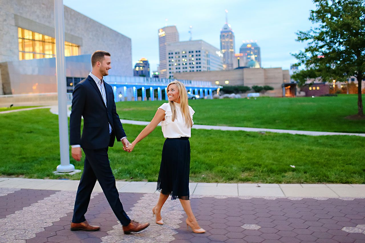 Jennie Mark Downtown Indianapolis Engagement Session 151
