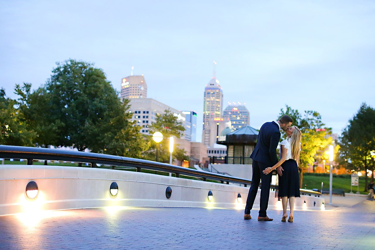 Jennie Mark Downtown Indianapolis Engagement Session 153