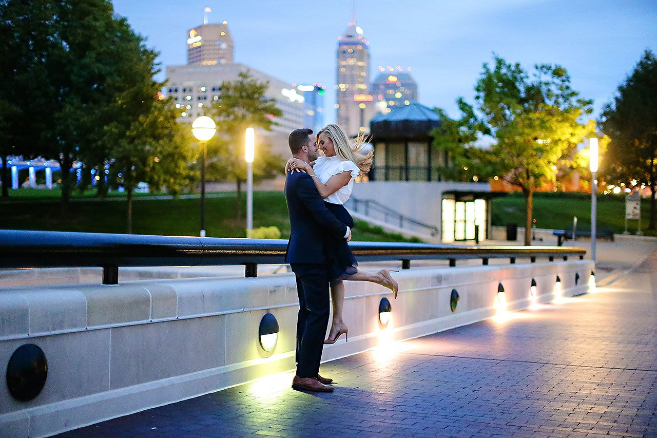 Jennie Mark Downtown Indianapolis Engagement Session 154