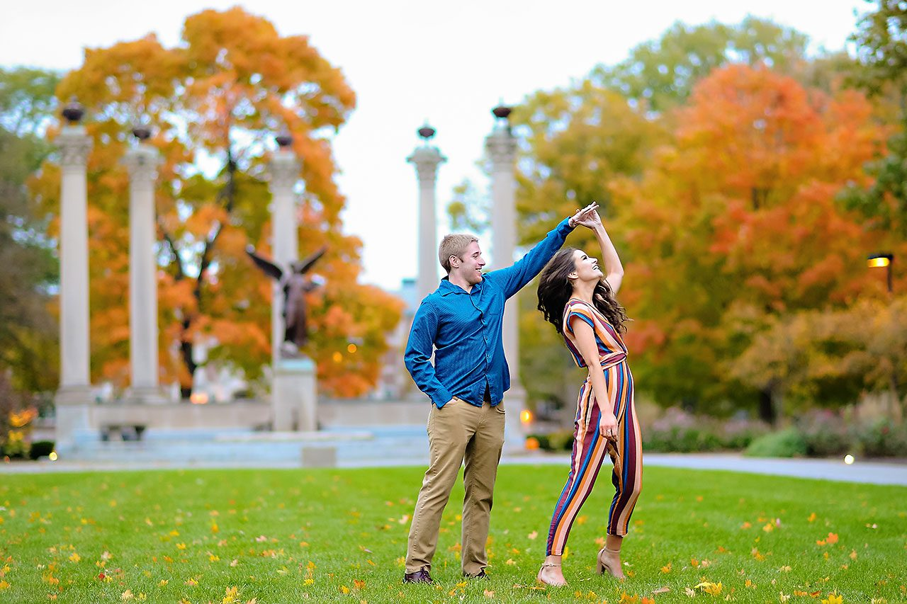 Hannah Ian Ball State Engagement Session 116