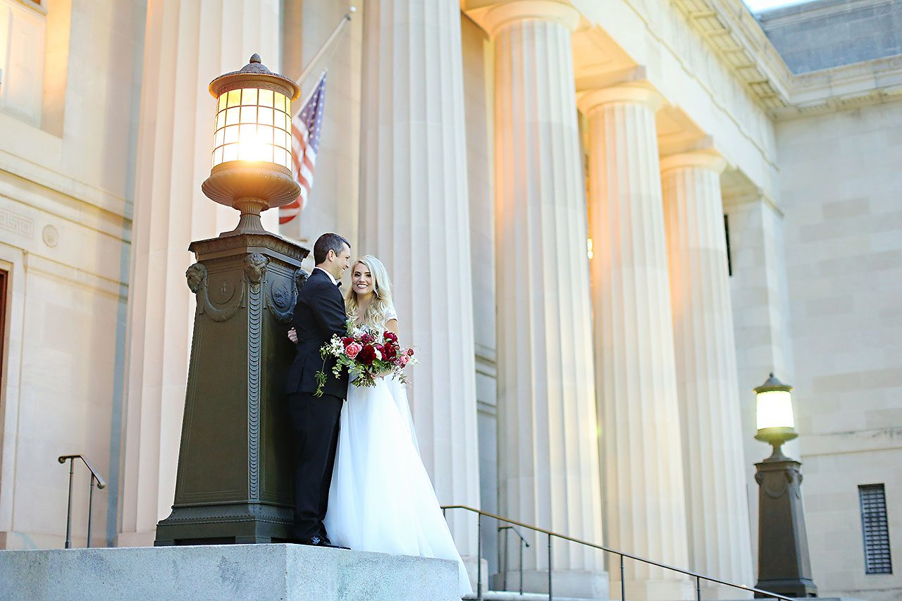 Emily Alex Indianapolis Central Library Wedding