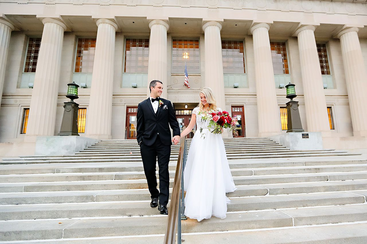 Emily Alex Indianapolis Central Library Wedding 189