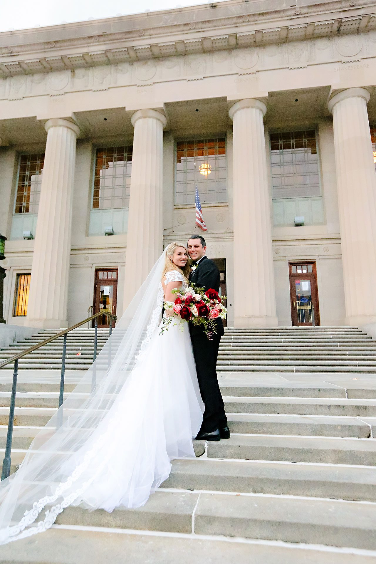 Emily Alex Indianapolis Central Library Wedding 196