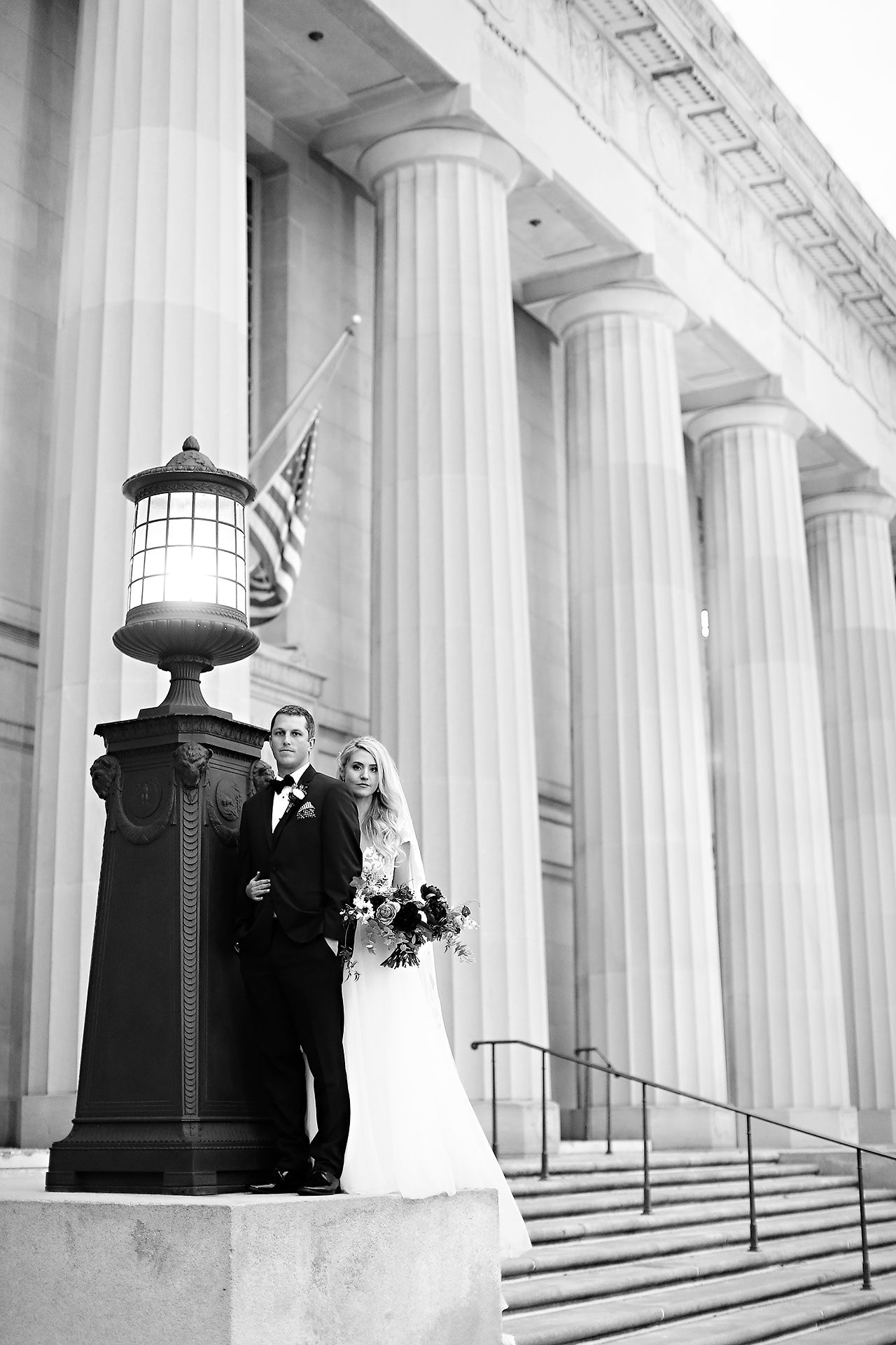 Emily Alex Indianapolis Central Library Wedding 200