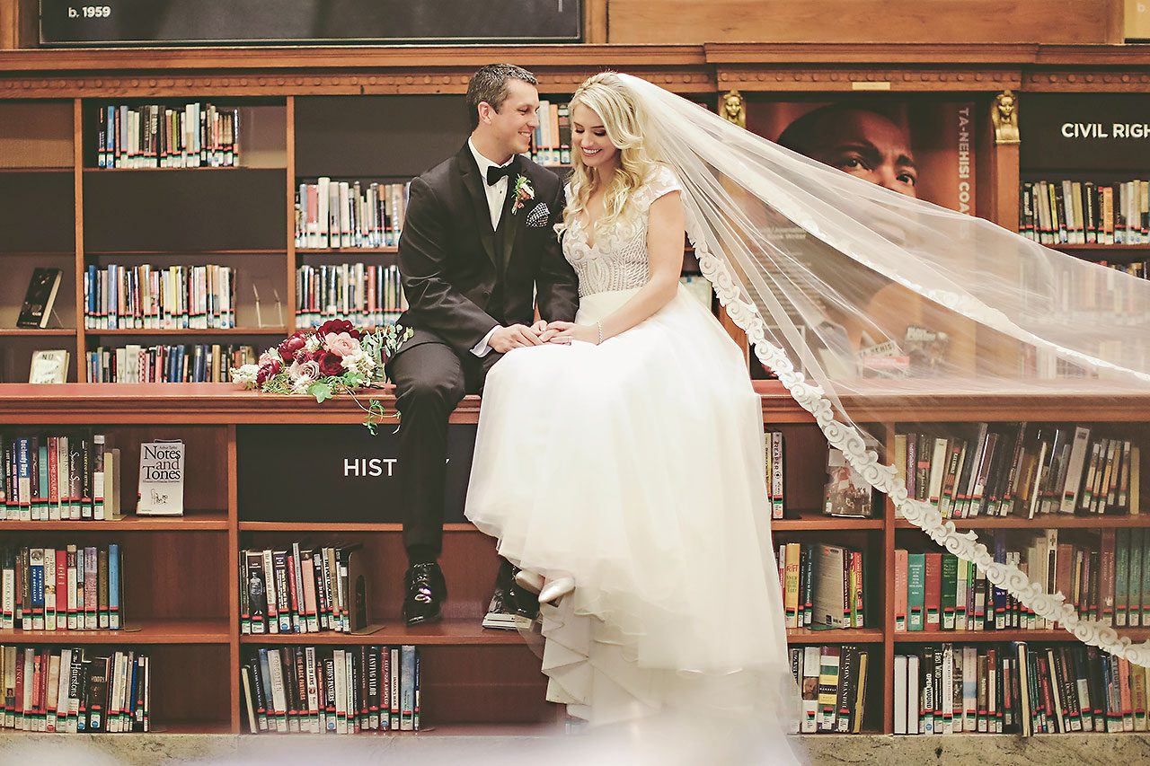 Emily Alex Indianapolis Central Library Wedding 214