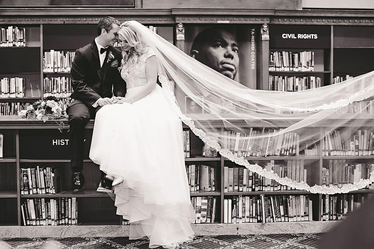 Emily Alex Indianapolis Central Library Wedding 216