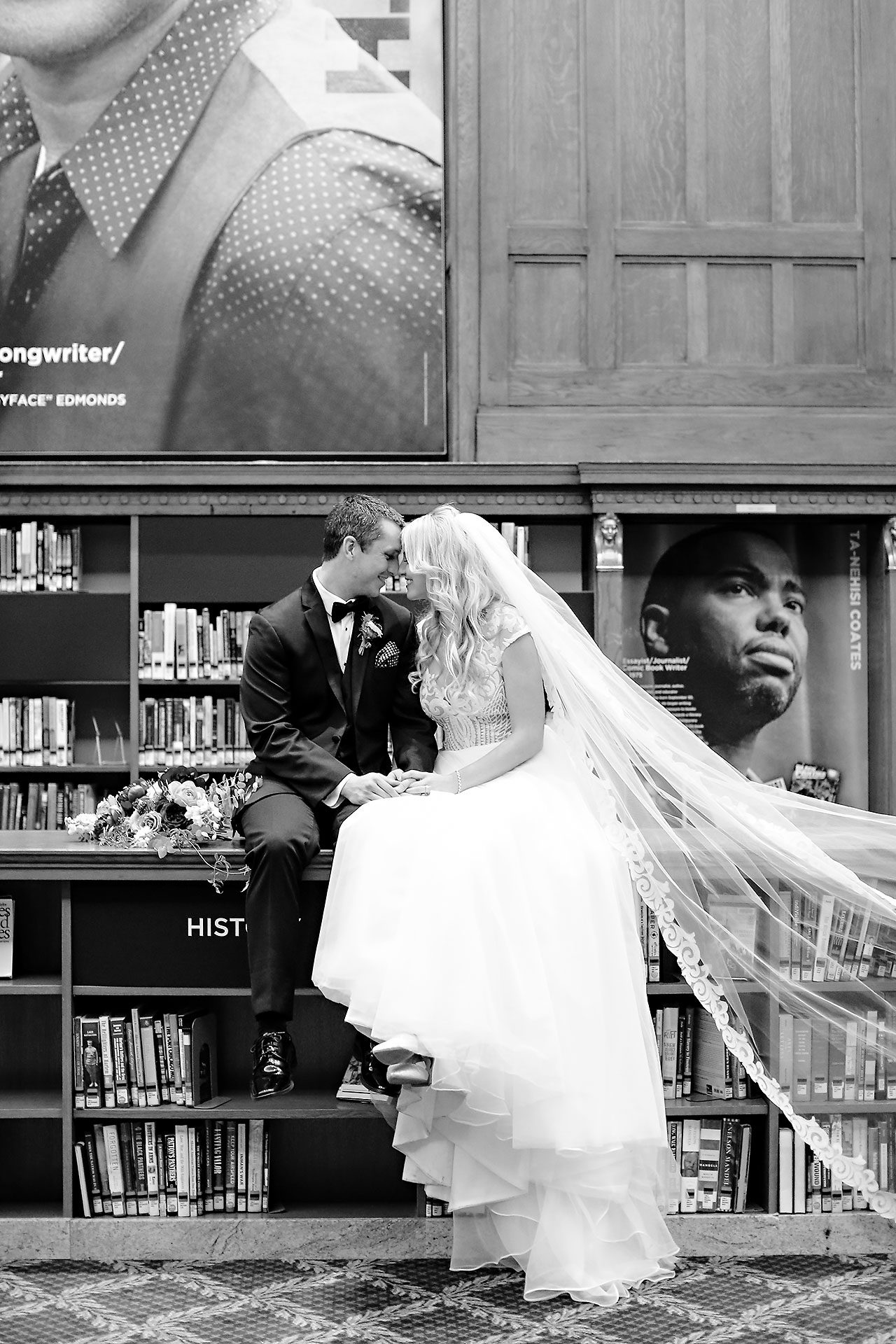 Emily Alex Indianapolis Central Library Wedding 222