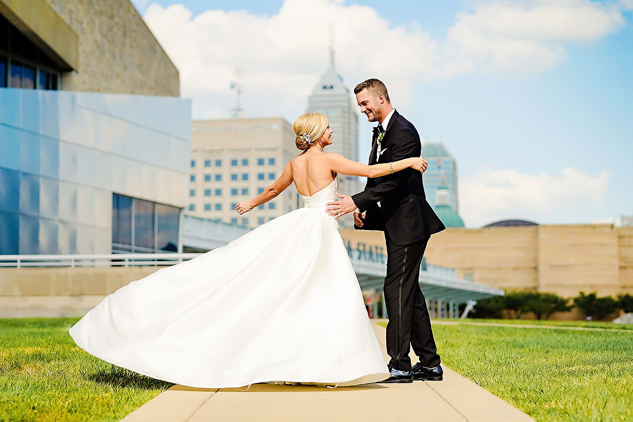 Jennie Mark Indiana Roof Ballroom Wedding 206