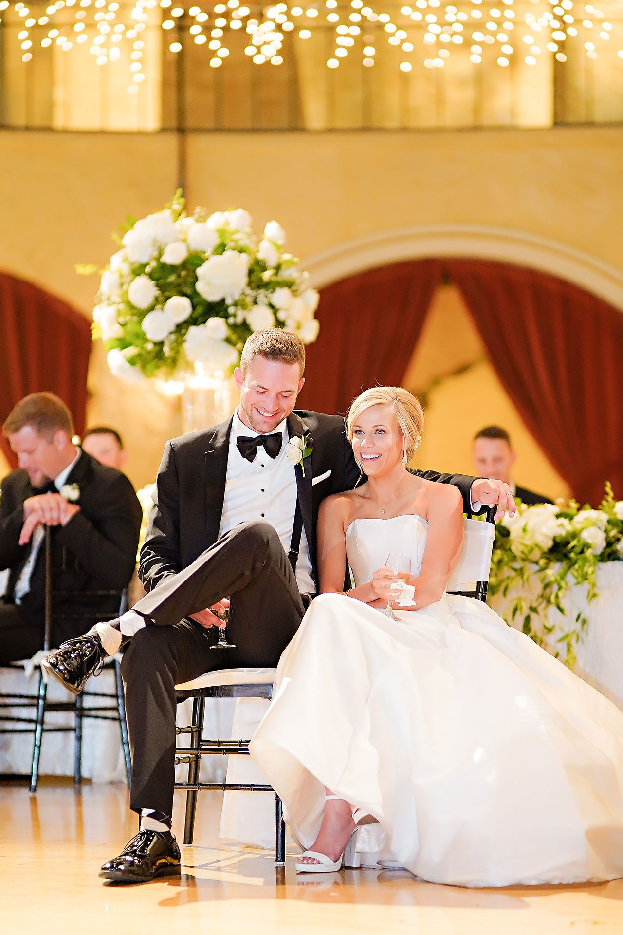 Jennie Mark Indiana Roof Ballroom Wedding 296