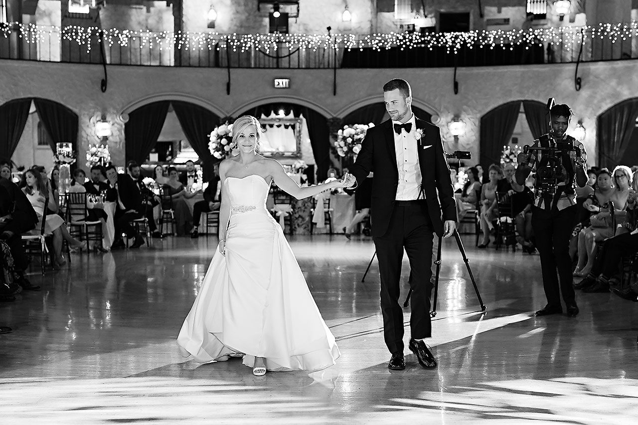 Jennie Mark Indiana Roof Ballroom Wedding 311