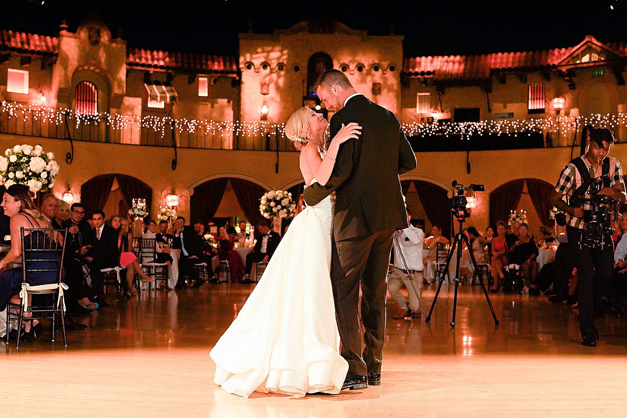 Jennie Mark Indiana Roof Ballroom Wedding 313