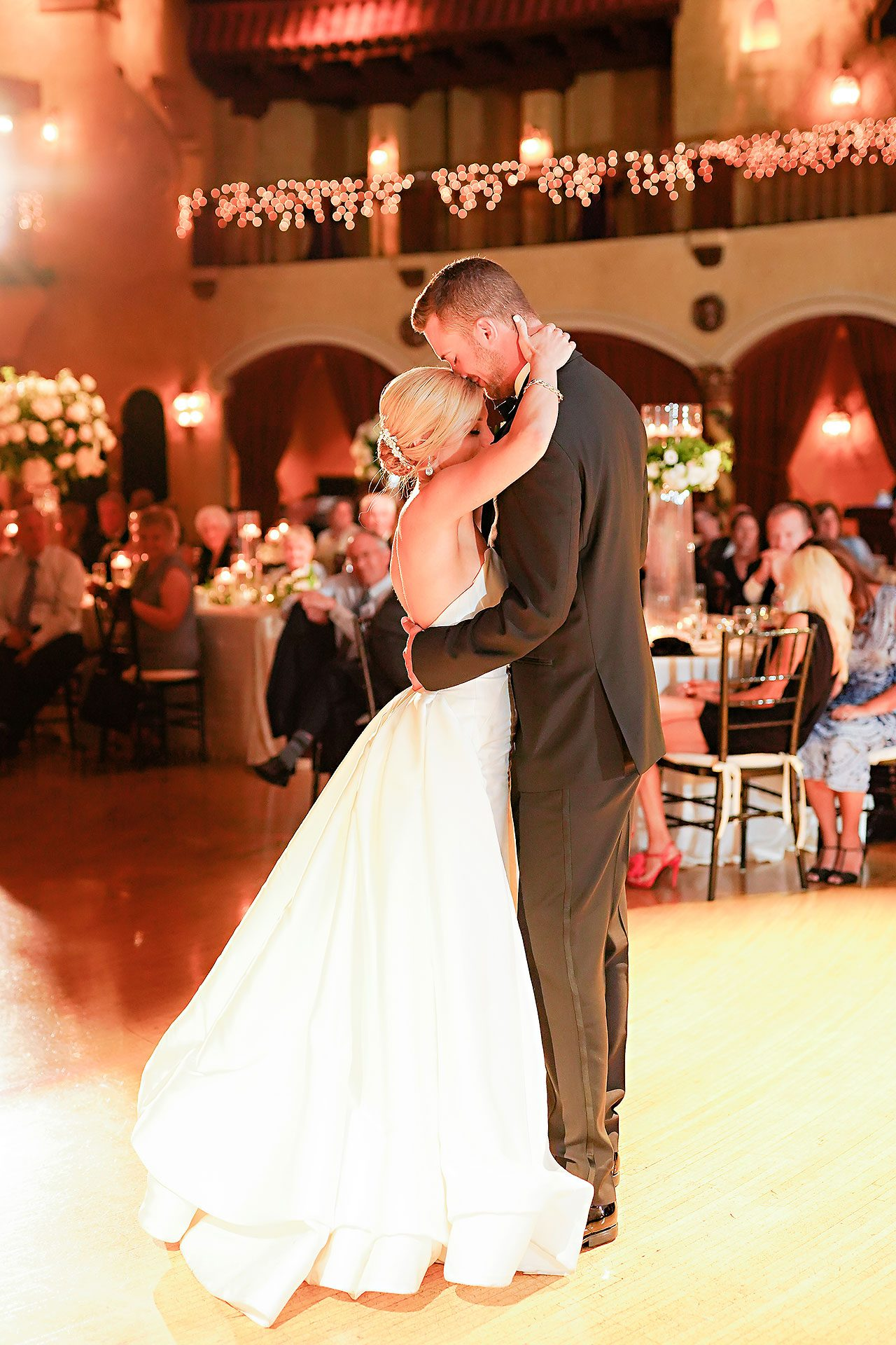 Jennie Mark Indiana Roof Ballroom Wedding 314