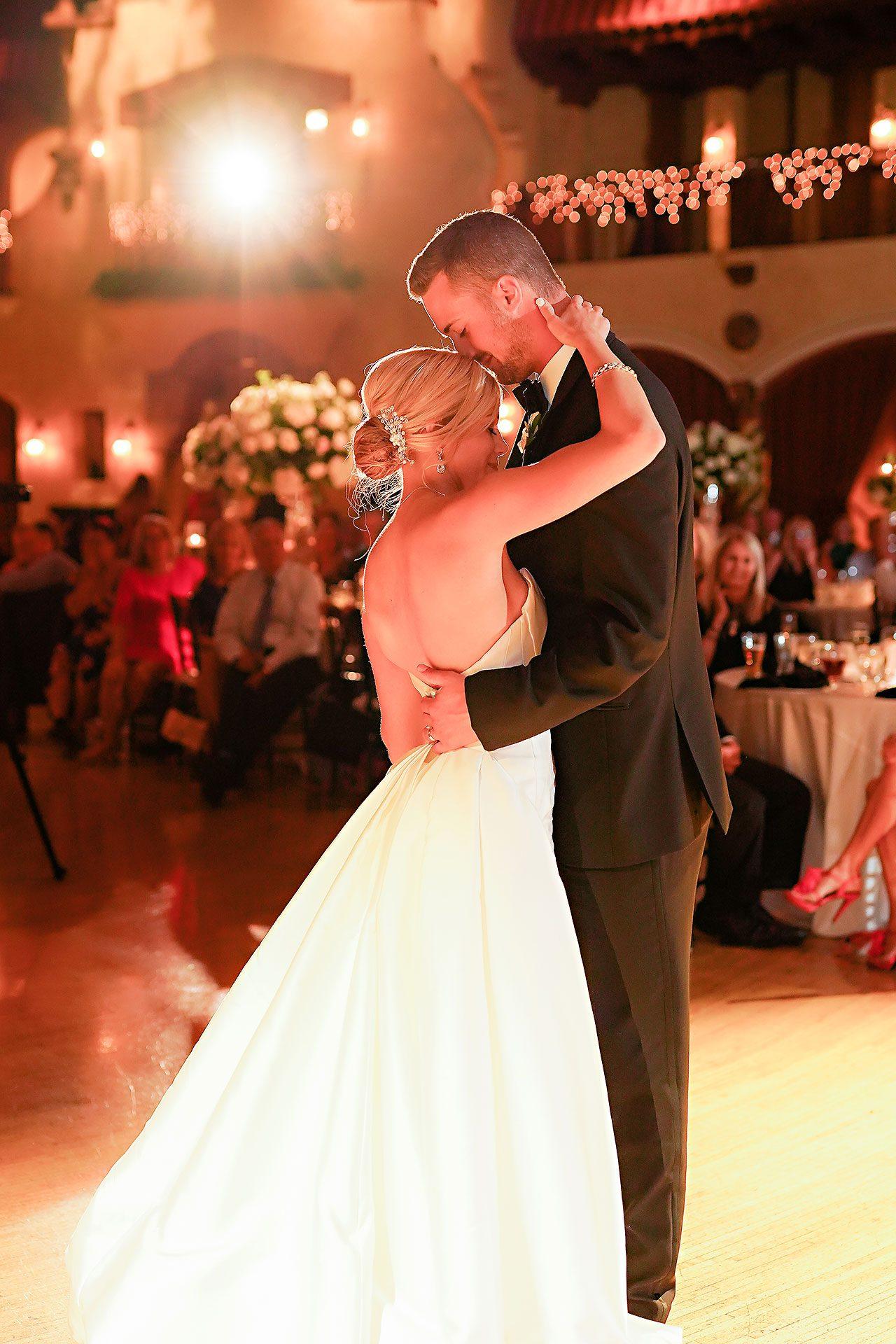 Jennie Mark Indiana Roof Ballroom Wedding 315