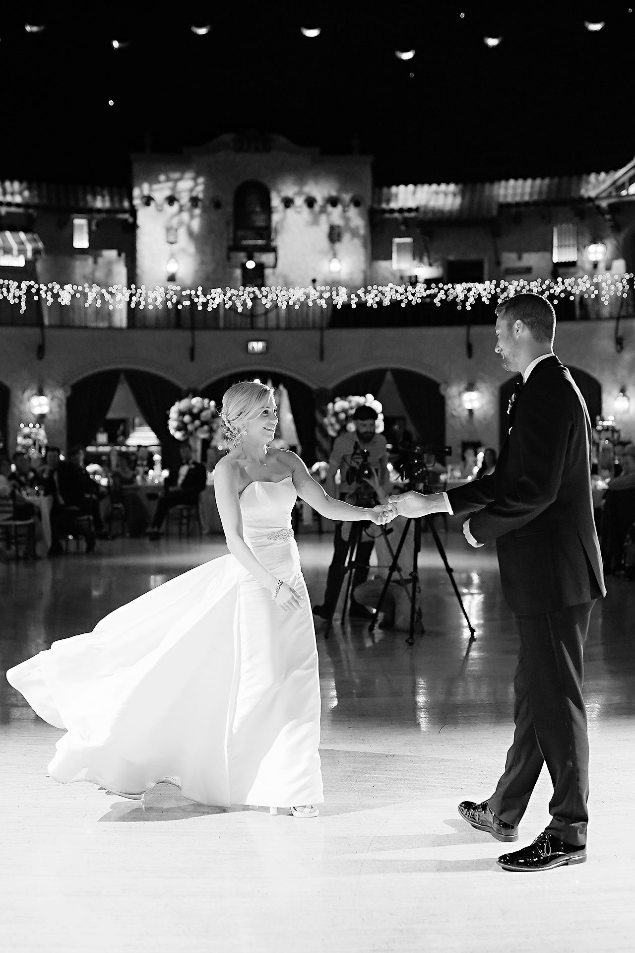 Jennie Mark Indiana Roof Ballroom Wedding 317