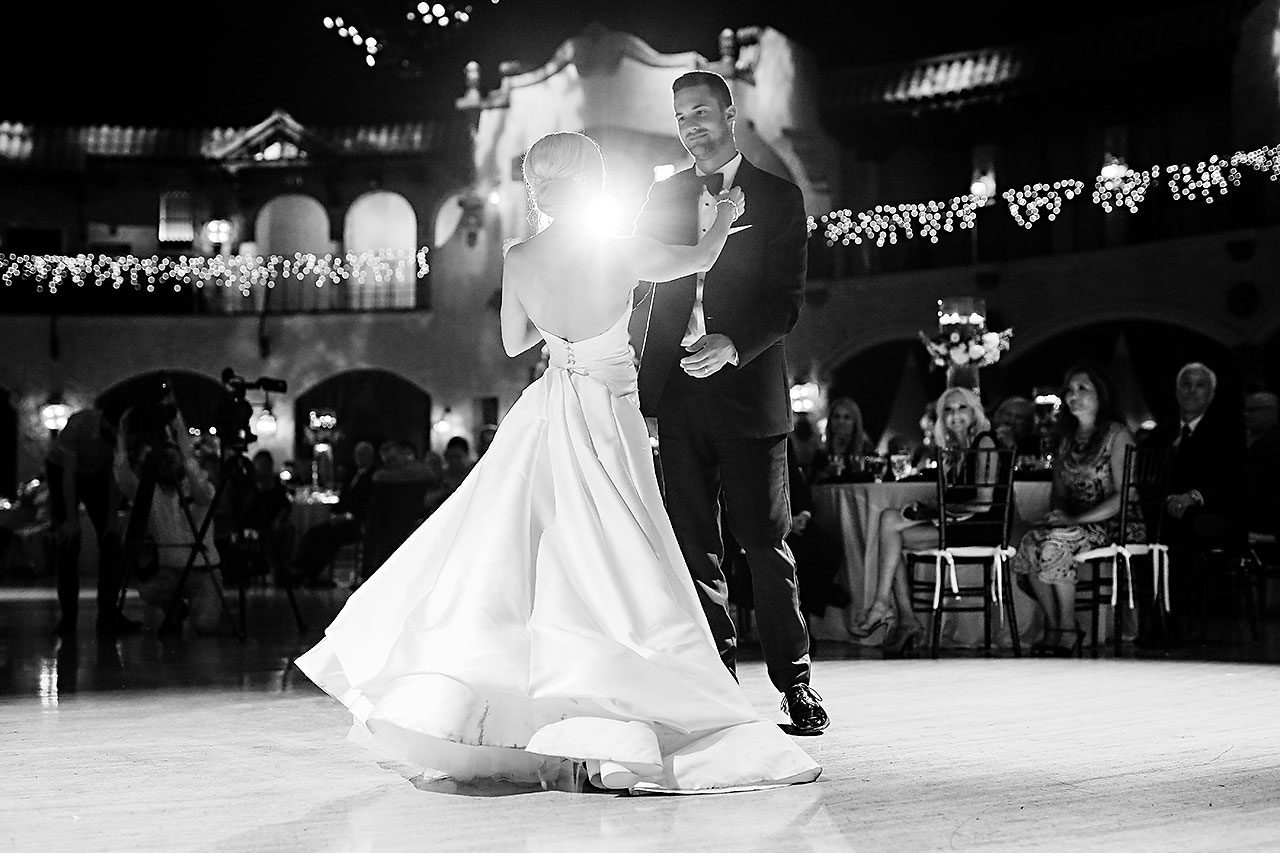 Jennie Mark Indiana Roof Ballroom Wedding 321
