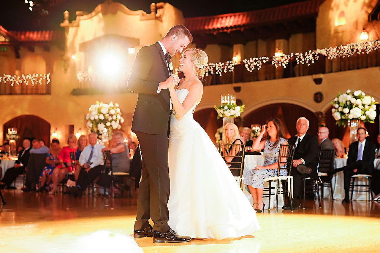 Jennie Mark Indiana Roof Ballroom Wedding 322