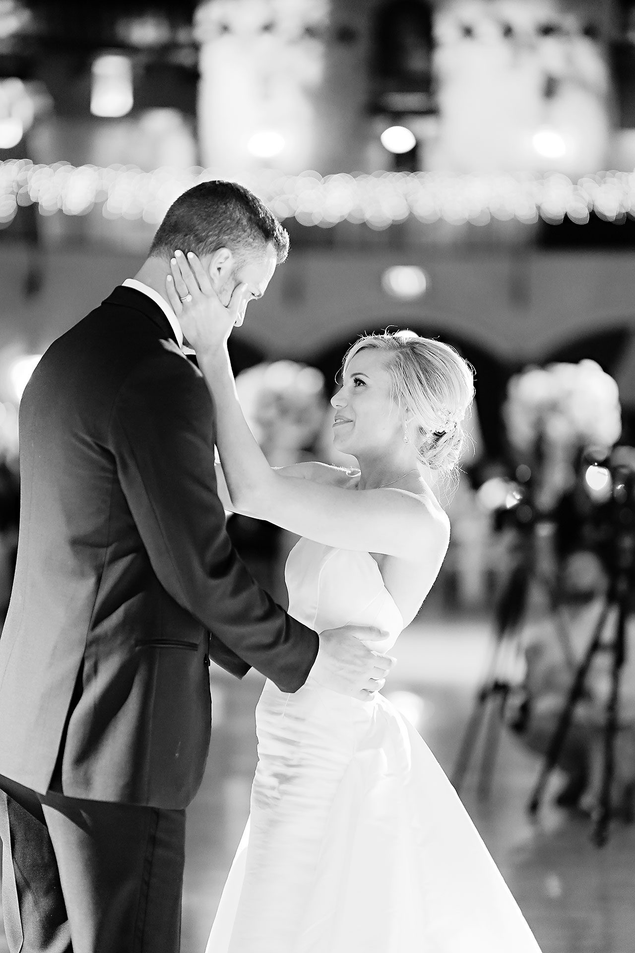 Jennie Mark Indiana Roof Ballroom Wedding 324