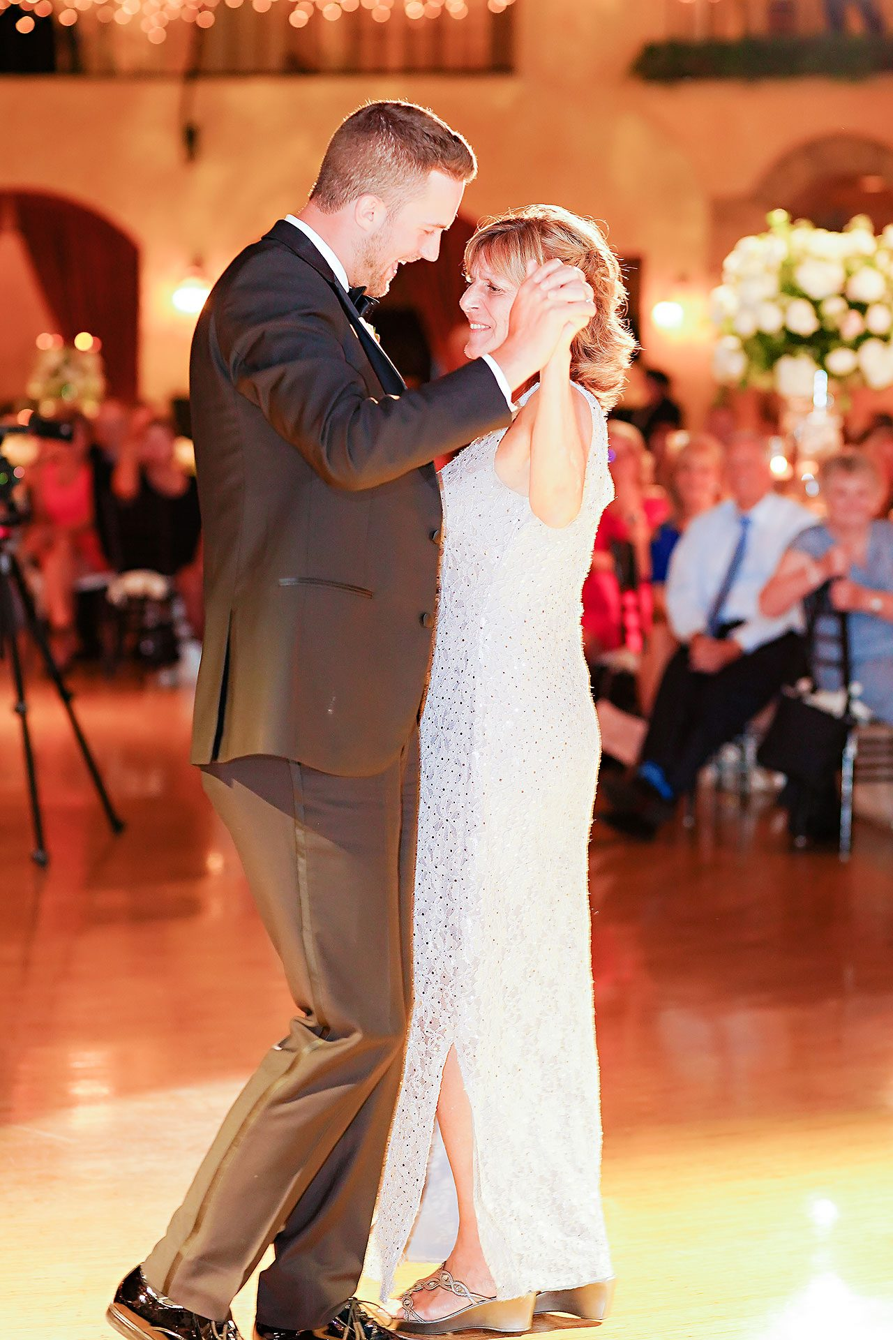 Jennie Mark Indiana Roof Ballroom Wedding 329
