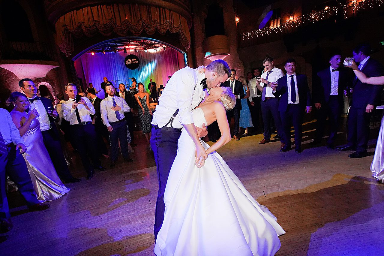 Jennie Mark Indiana Roof Ballroom Wedding 378