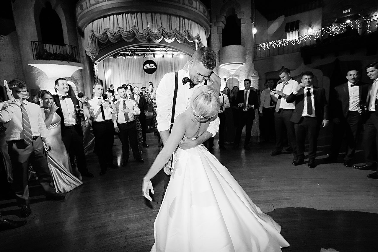 Jennie Mark Indiana Roof Ballroom Wedding 379