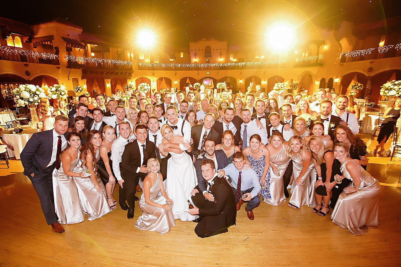 Jennie Mark Indiana Roof Ballroom Wedding 380