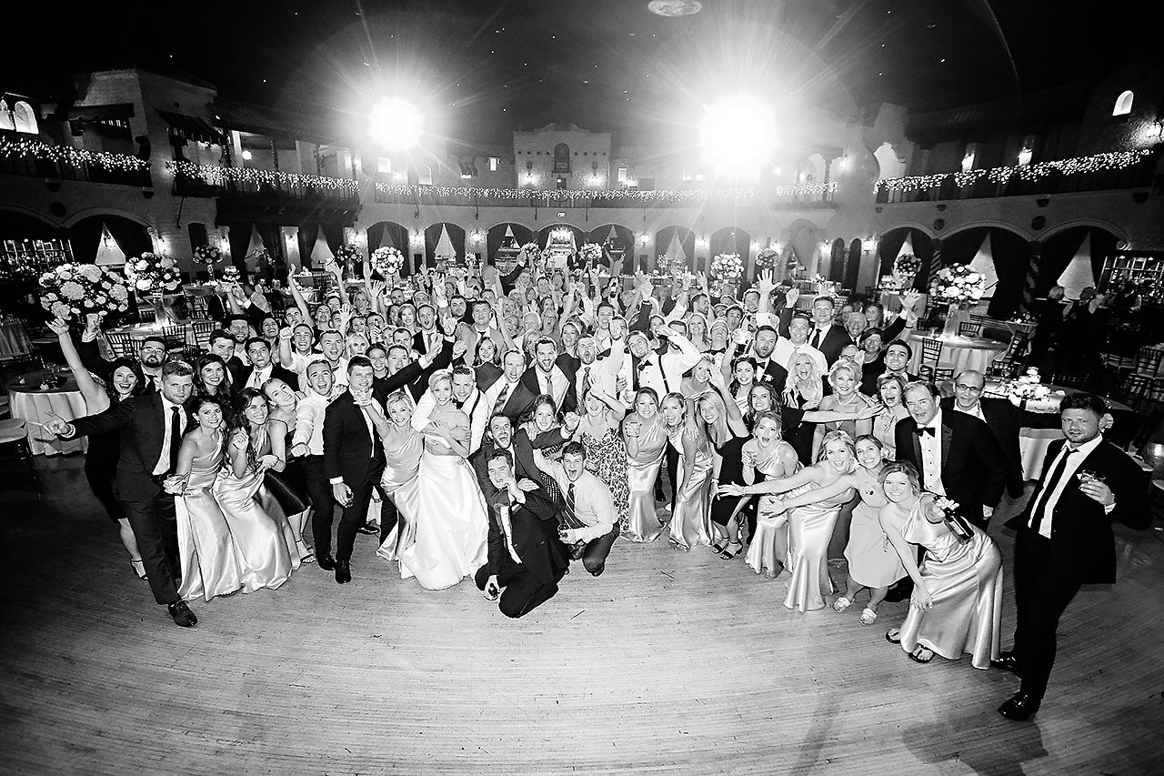 Jennie Mark Indiana Roof Ballroom Wedding 381