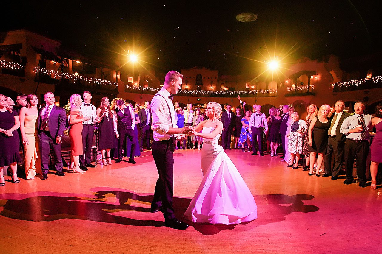 Jennie Mark Indiana Roof Ballroom Wedding 382