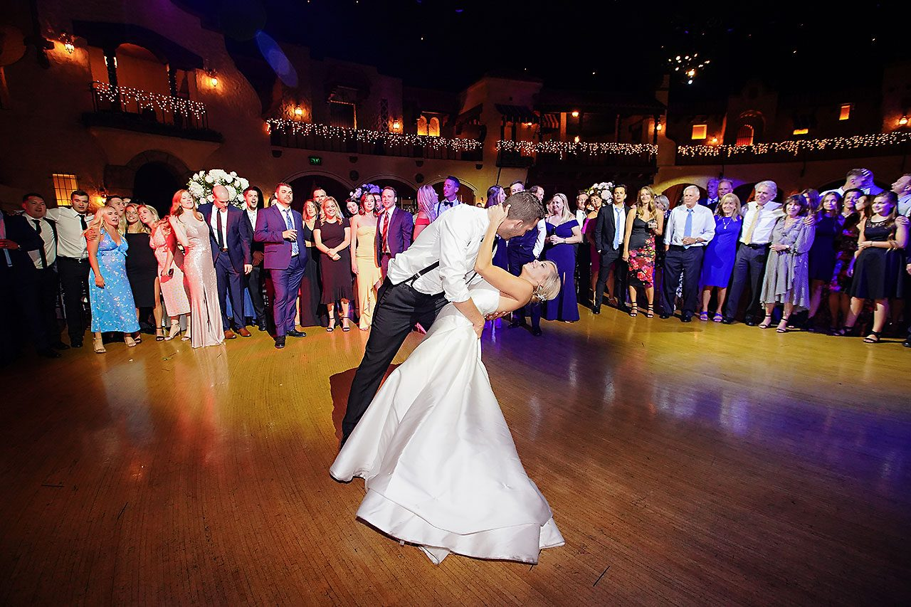 Jennie Mark Indiana Roof Ballroom Wedding 383