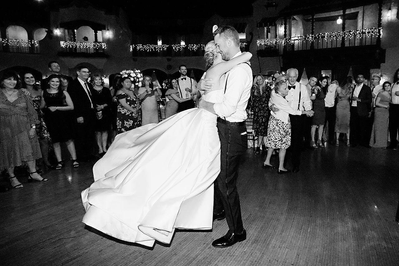 Jennie Mark Indiana Roof Ballroom Wedding 388