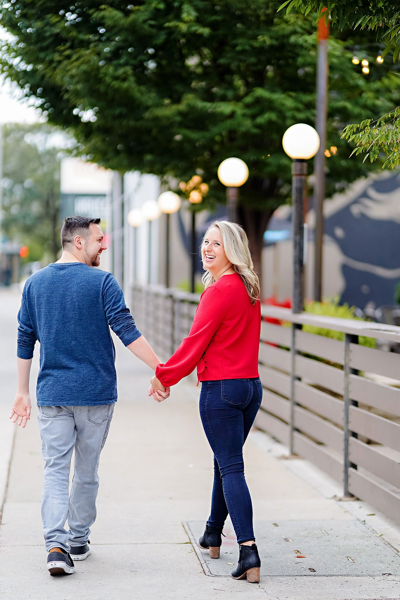 Kristen Jonny Indianapolis Downtown Engagement Session 001
