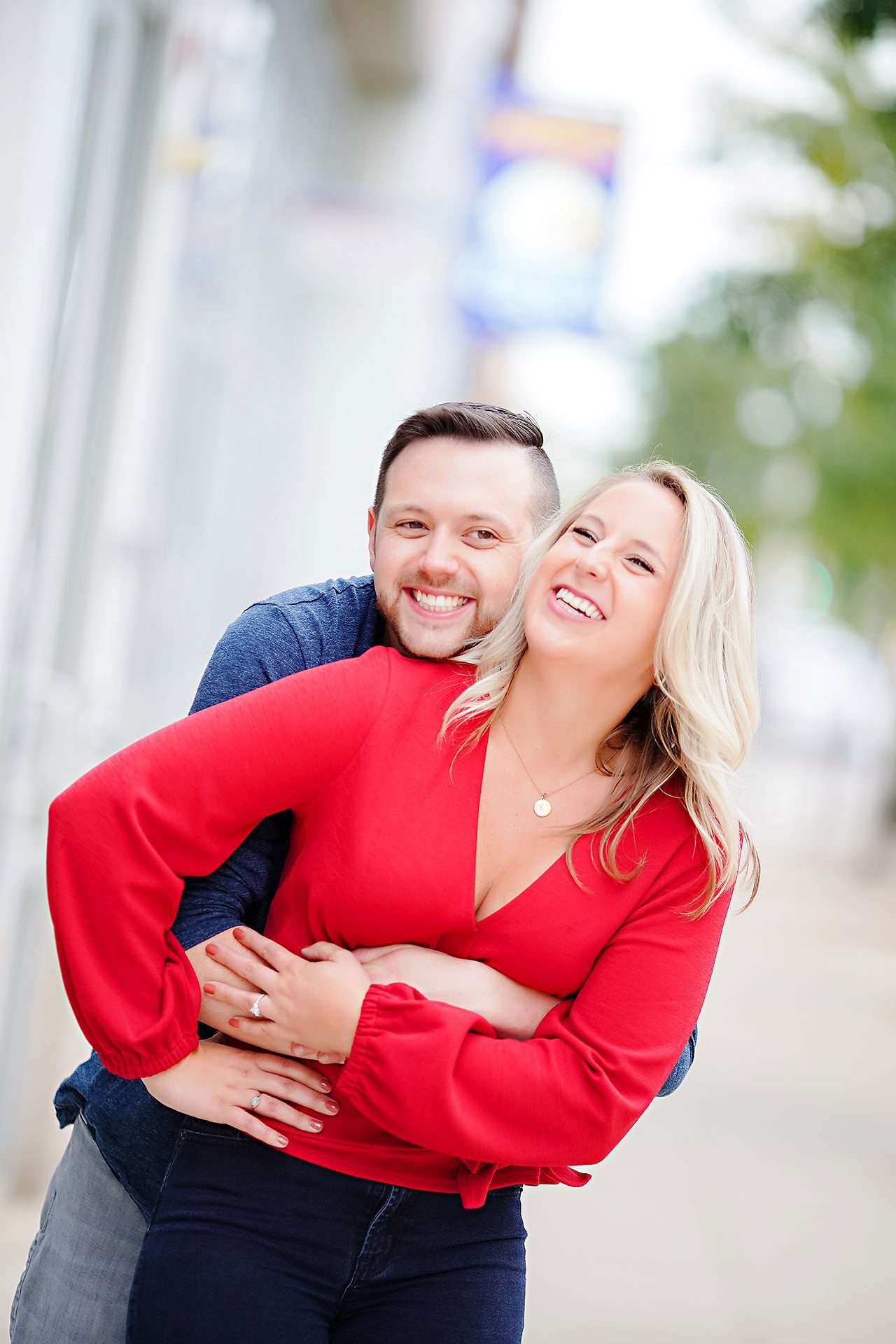 Kristen Jonny Indianapolis Downtown Engagement Session 006