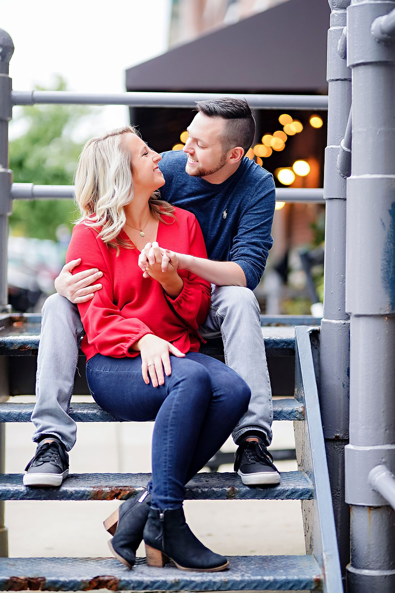 Kristen Jonny Indianapolis Downtown Engagement Session 007