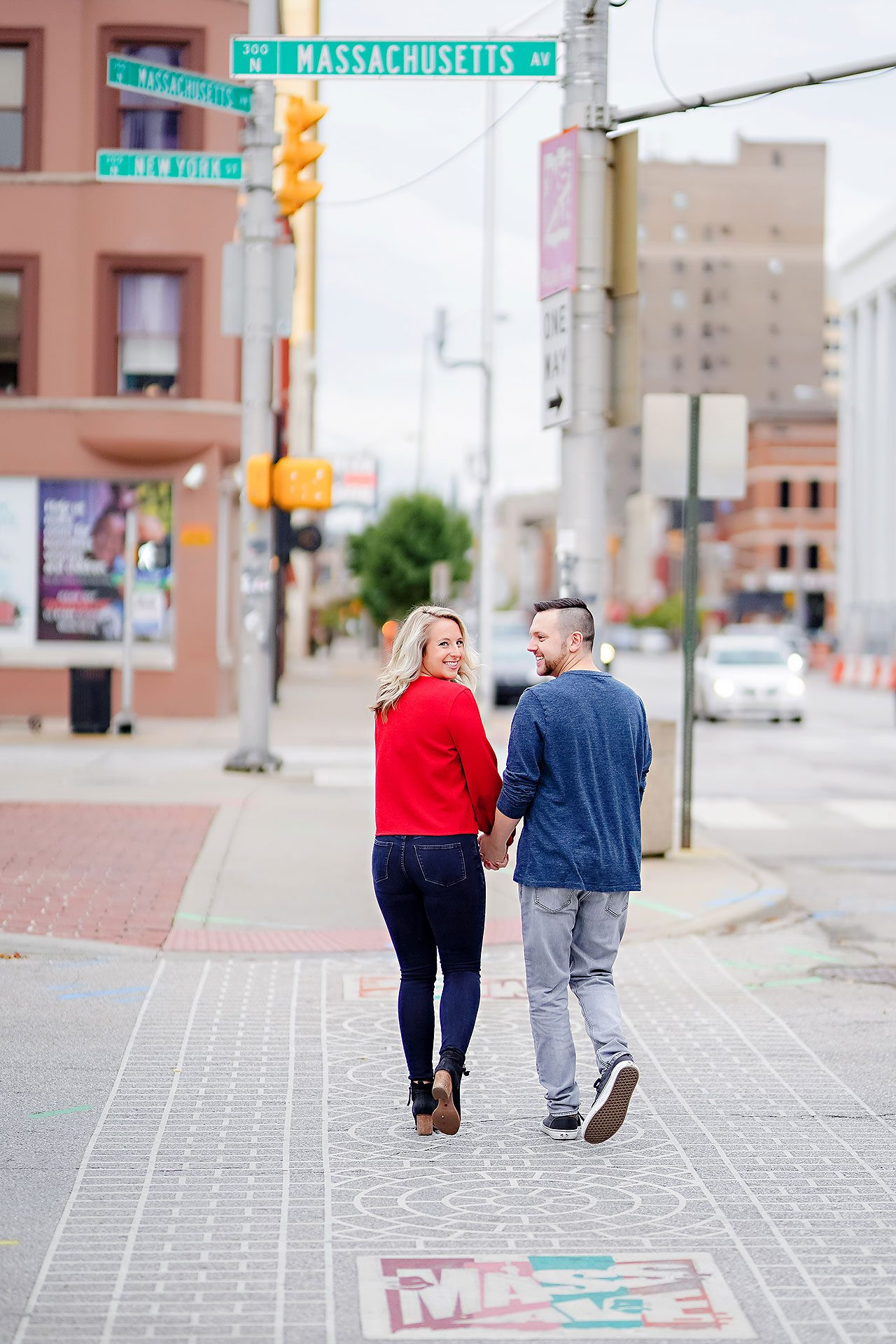 Kristen Jonny Indianapolis Downtown Engagement Session 012