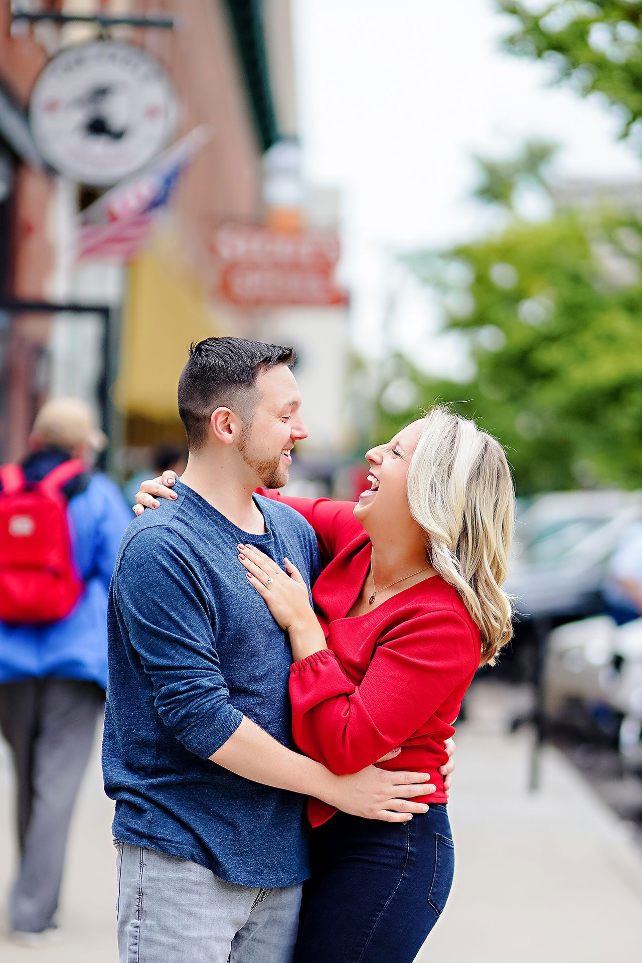 Kristen Jonny Indianapolis Downtown Engagement Session 013