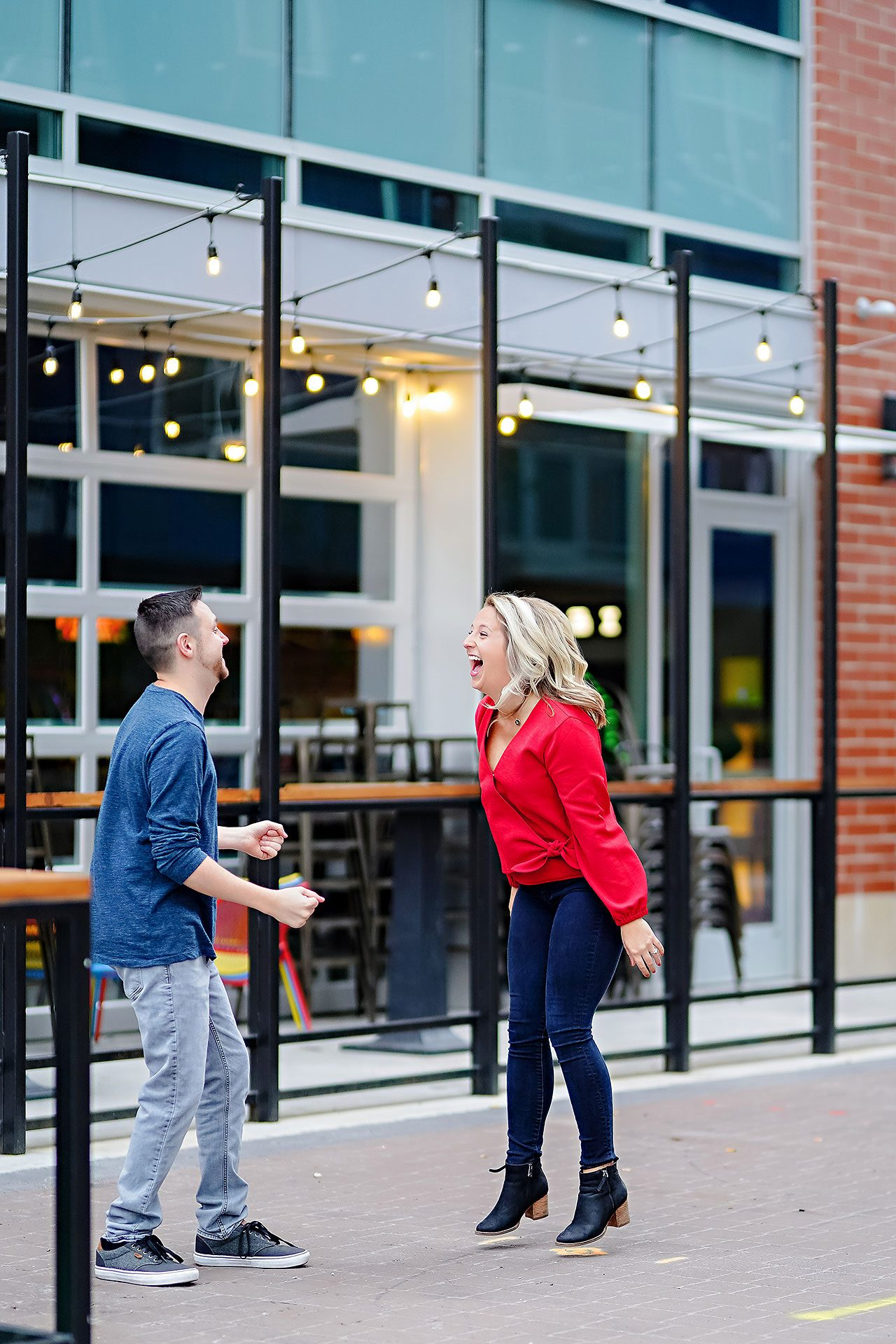 Kristen Jonny Indianapolis Downtown Engagement Session 020