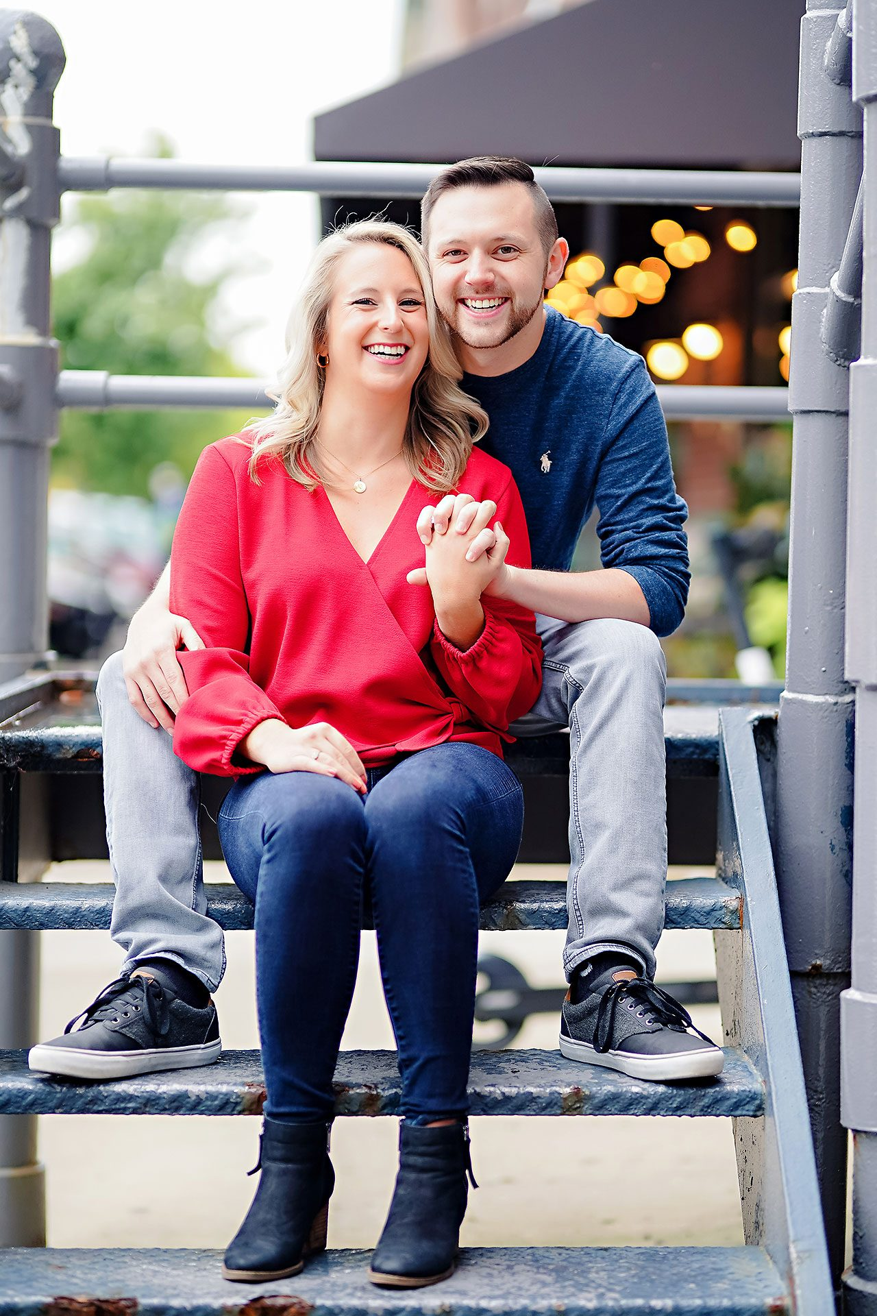 Kristen Jonny Indianapolis Downtown Engagement Session 025